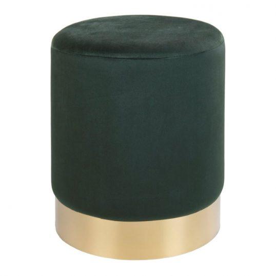 Green Velvet Pouf