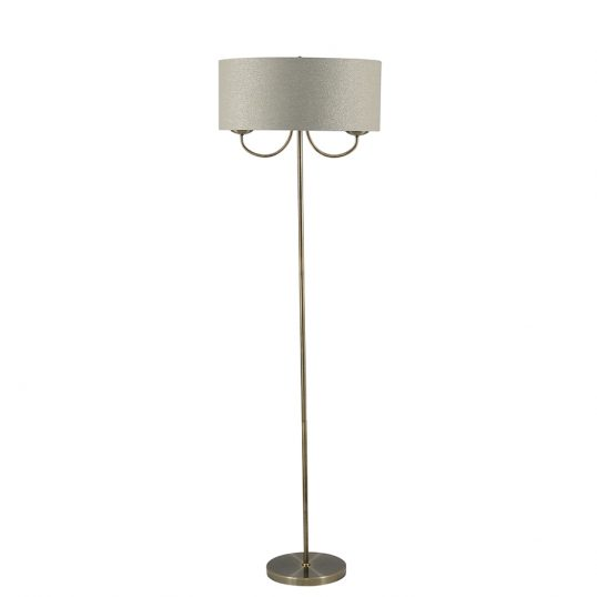 2 Light Antique Brass Floor Lamp