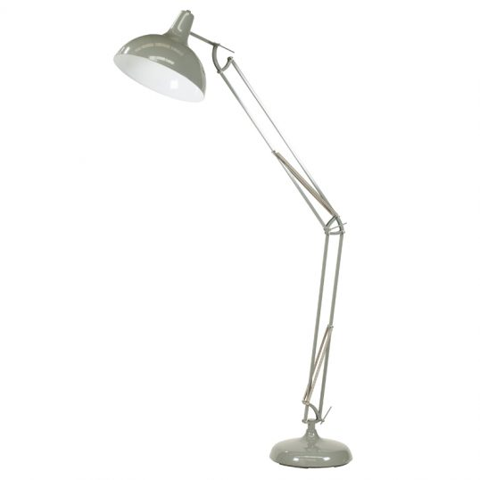 Grey Painted Oversize Task Floor Lamp