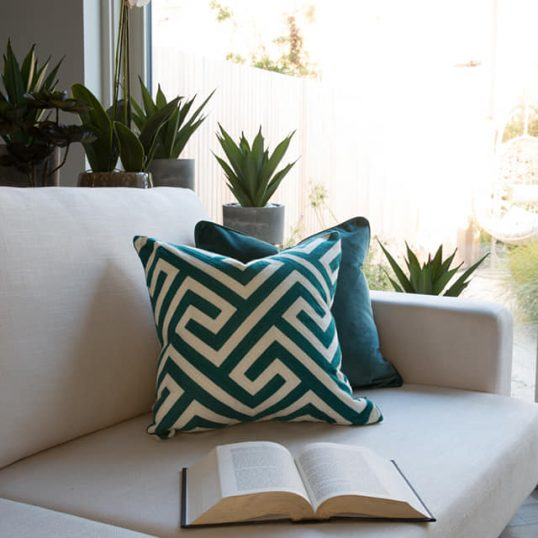 Ethnic Teal Cushion