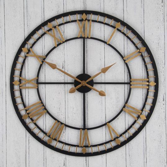 Antique Bronze & Gold Metal Wall Clock
