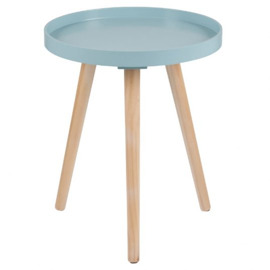 Retro Aqua Round Small Table