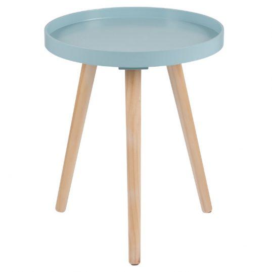 Retro Aqua Round Small Table