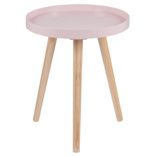 Retro Pink Round Small Table