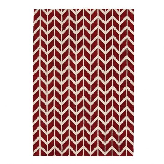 Arlo Rug Chevron Red