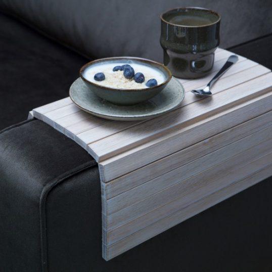 Armrest xl flex sofa tray Whitewash