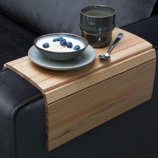 Armrest xl flex sofa tray oak lacquer