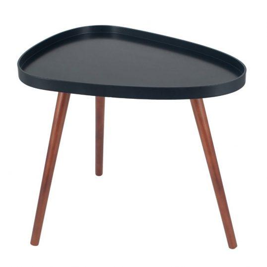 Black & Brown Pine Wood Teardrop Side Table