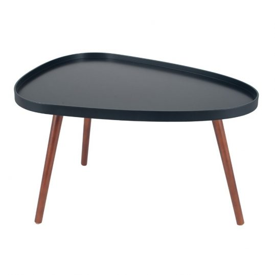 Black & Brown Pine Wood Teardrop Coffee Table