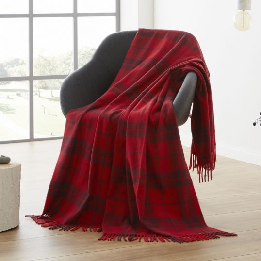 Bocasa Conny Plaid Red Throw