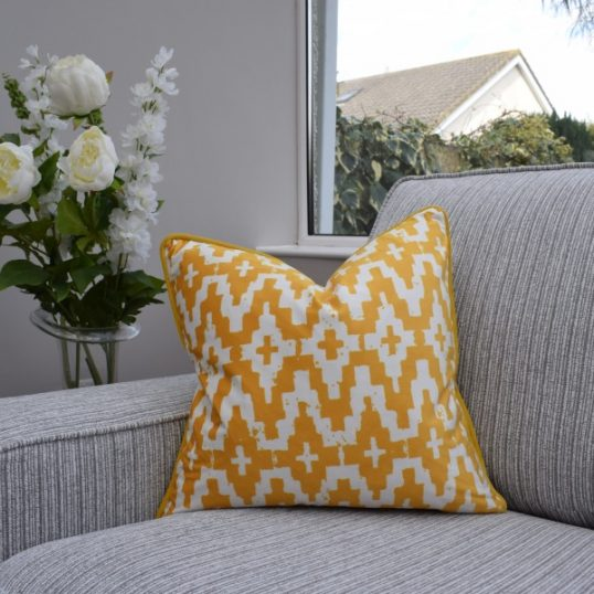 Mustard Aztec Cushion