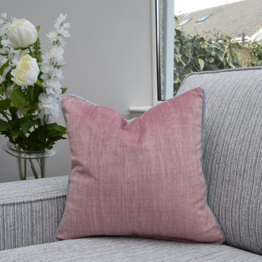 Two Tone Grey/Pink Cushion