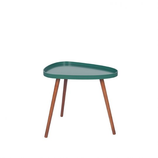 Forest Green and Brown Teardrop Table