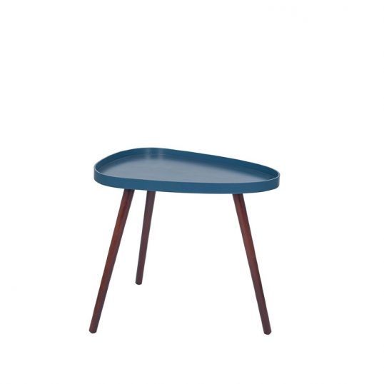 Sapphire and Brown Teardrop Table