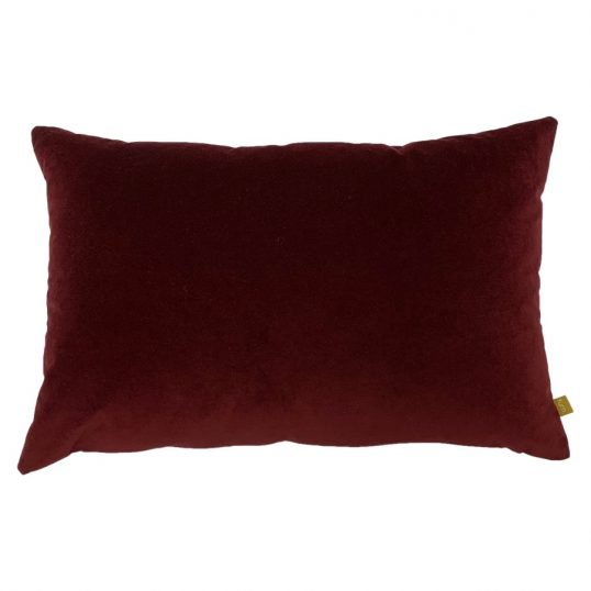 Contra Velvet Linen Cushion in Ox Blood