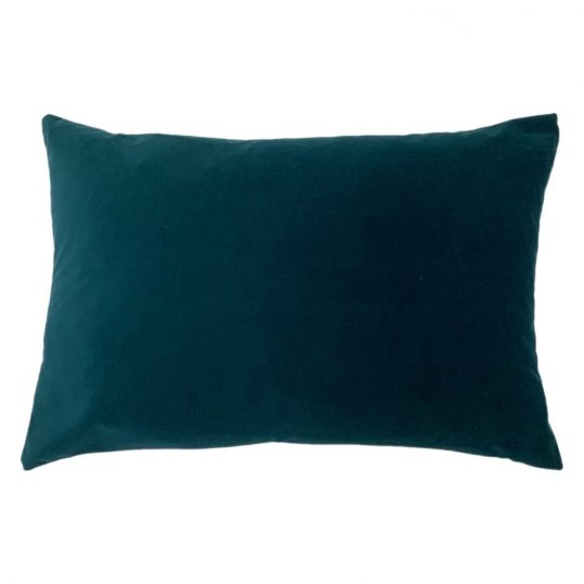 Contra Velvet Linen Cushion in Teal