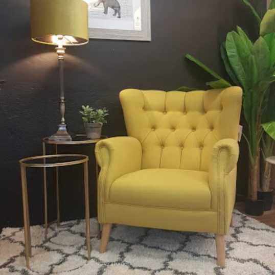 Grace Accent Chair Light Mustard