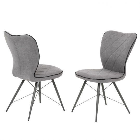 Emily Grey Fabric Dining Chairs