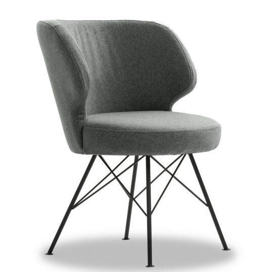 Erwan Accent Chair -Light Grey