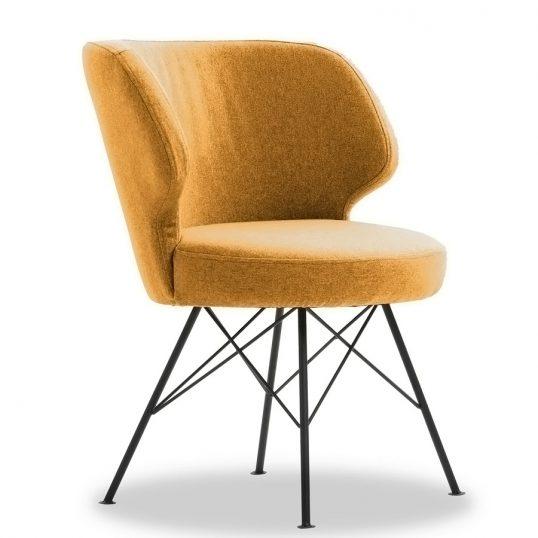 Erwan Accent Chair – Mustard