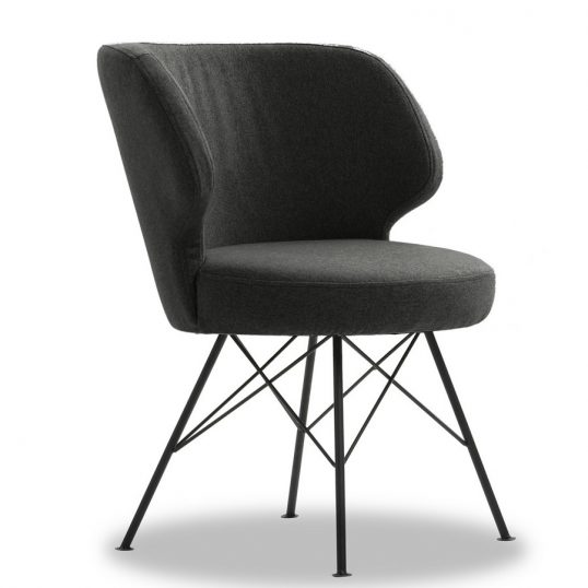 Erwan Accent Chair – Charcoal