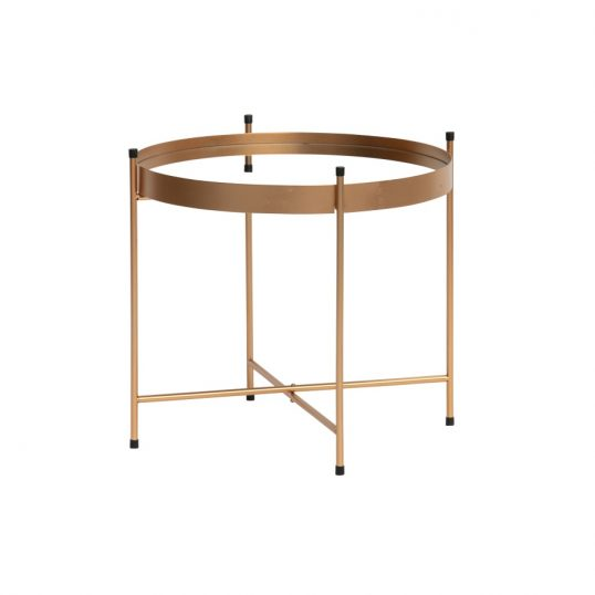 Faris coffee table with mirror metal antique brass