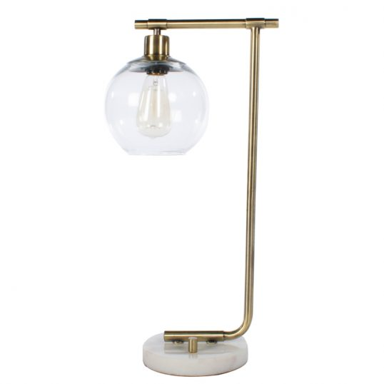 Globe table lamp marble gold 55cm
