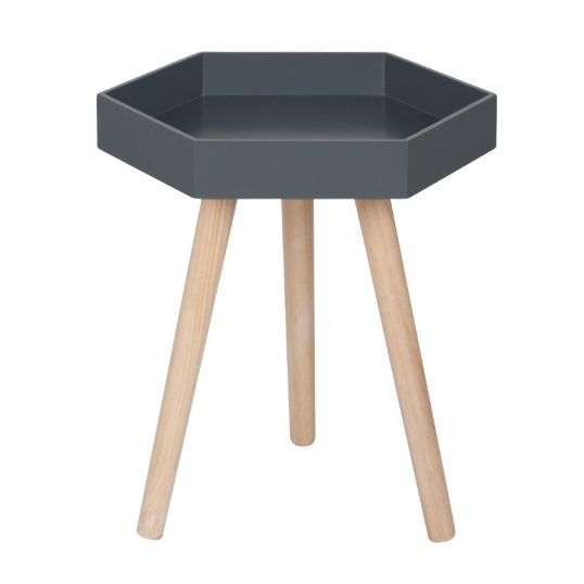 Grey Hexagon Table Small