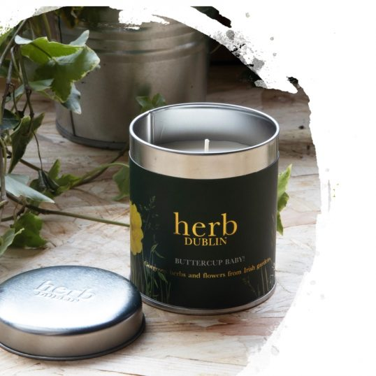 HERB BUTTERCUP BABY CANDLE-TIN TALL