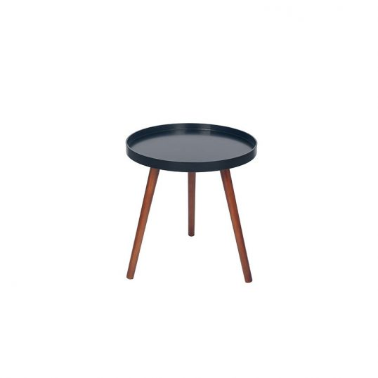 Retro black and Brown Round Table