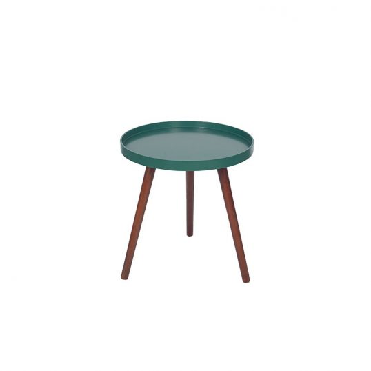 RETRO Forest green and Brown Pine Wood Round Table