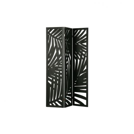 Harper folding screen wood black