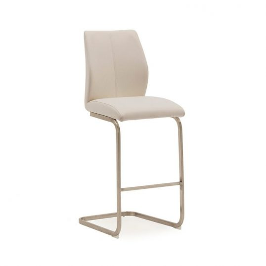 Irma Bar Chair – Brushed Steel Taupe
