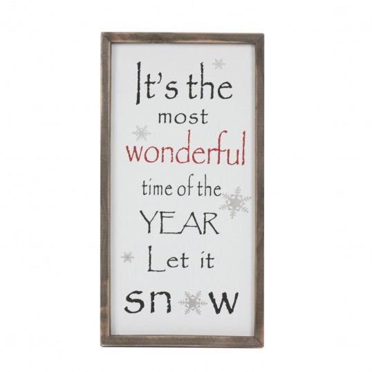 'It's the most Wonderful Time' Wall Plaque