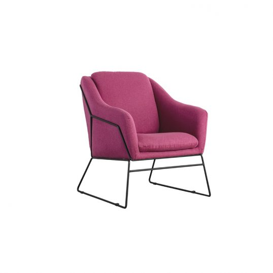 Karl Accent Chair – Woven Berry