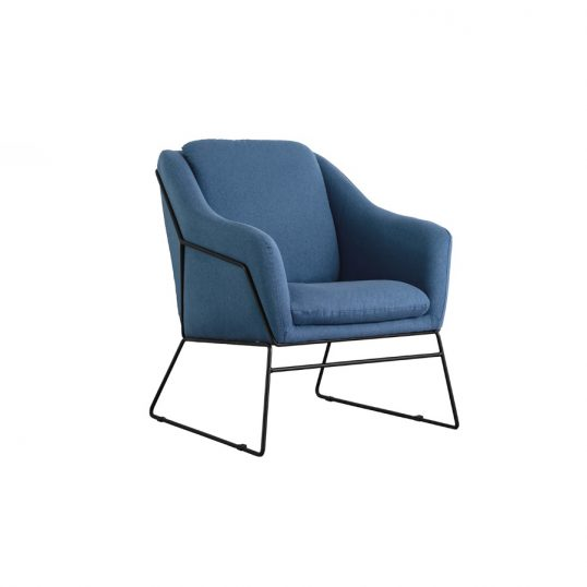 Karl Accent Chair – Woven Blue