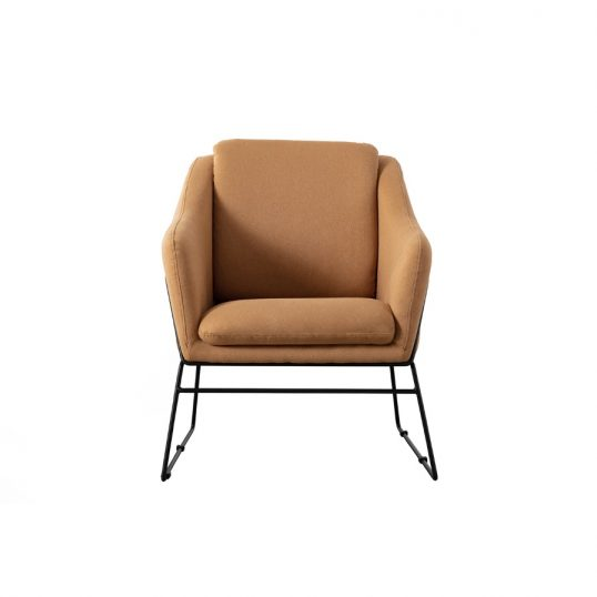 Karl Accent Chair – Woven Mustard