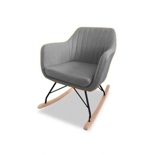 Katell Rocking Chair – Light Grey