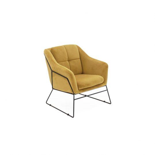 Klaus Accent Chair – Mustard