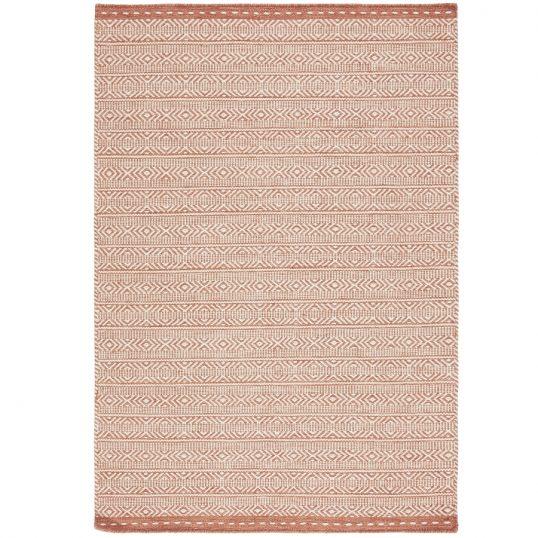 Knox Coral Geometric Wool Rug