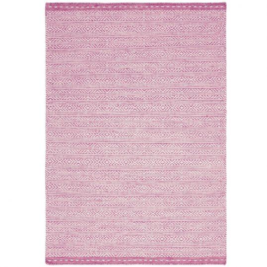 Knox Pink Geometric Wool Rug