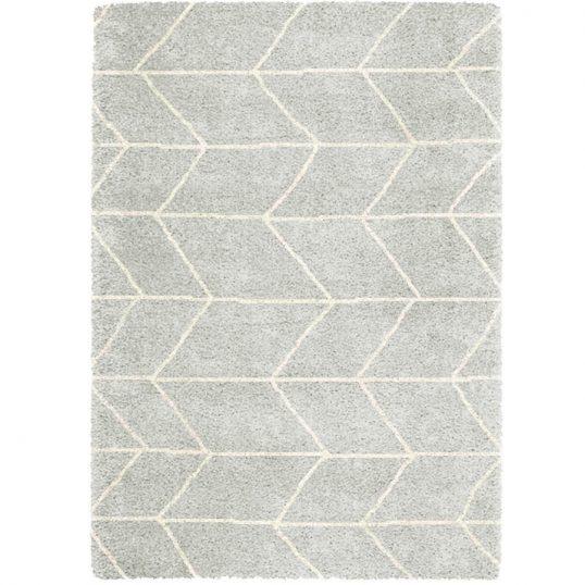 Logan Blocks Silver/Ivory Rug 120 x 170