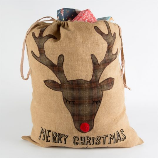 MERRY CHRISTMAS MY DEER PRESENTS SACK