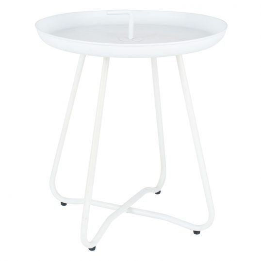 Metal Side Table White