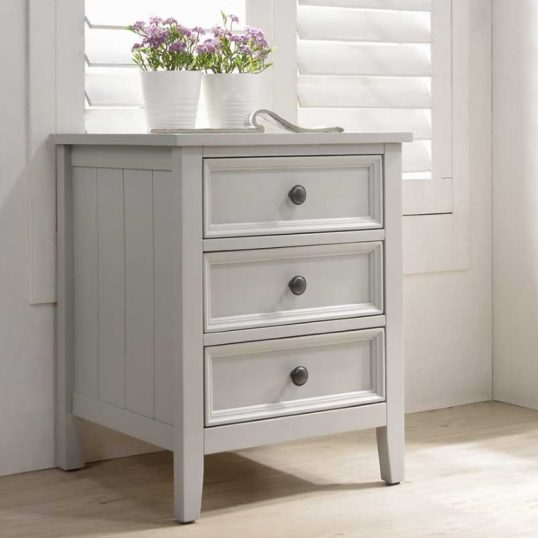 Mila Bedside Table – 3 Drawer Clay