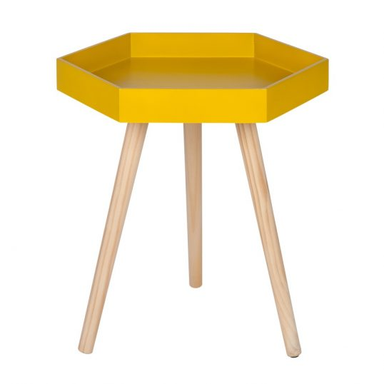 Mustard Hexagon Table Large