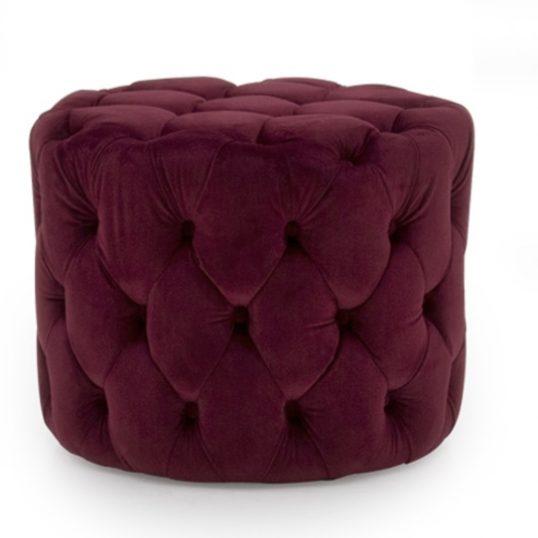 Perk Footstool Crimson