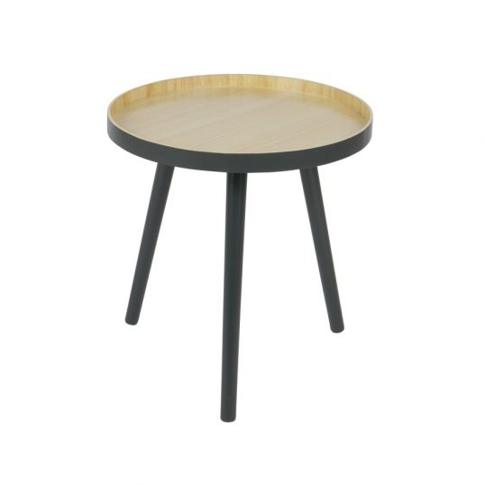 Retro Side Table Anthracite & Wood