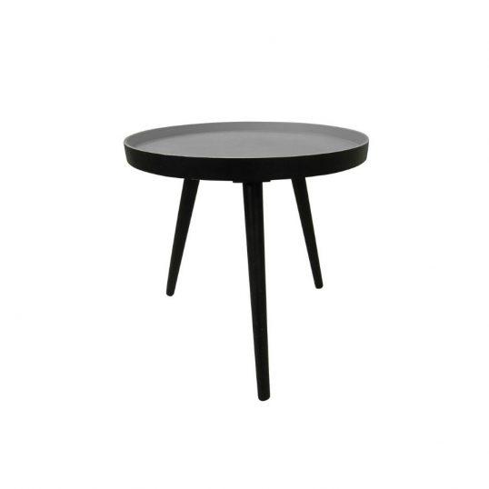 Retro Side Table Black