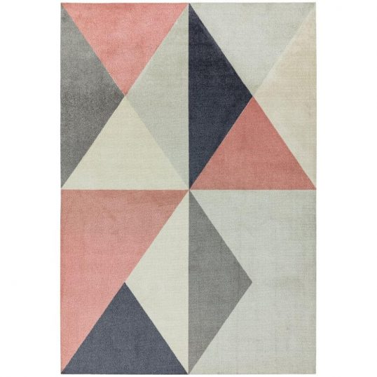 Riley-Pink-and-Grey-Triangles-Rug